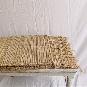Set of 4 Vintage Straw Placemats